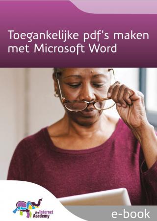 Omslag van 'Toegankelijke pdf's maken met Microsoft Word'